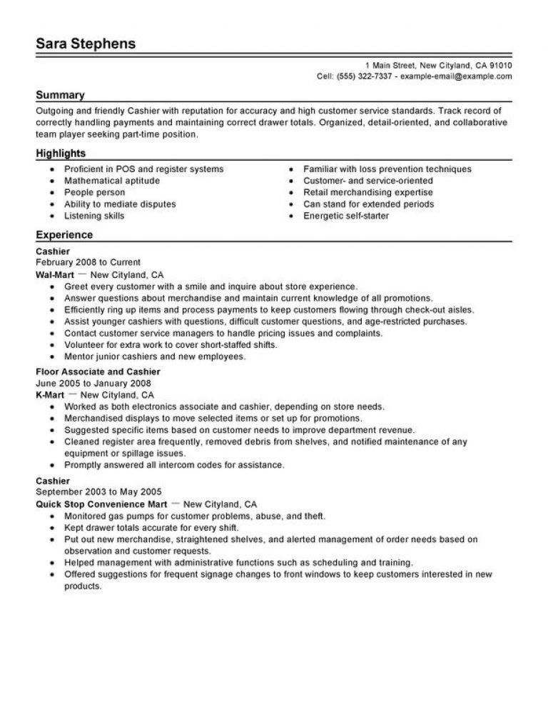 100+ Resume For Cashier - Cashier Job Dutie Sample Cashier Job ...
