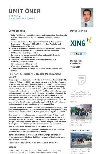 Territory Sales Manager Resume samples - VisualCV resume samples ...