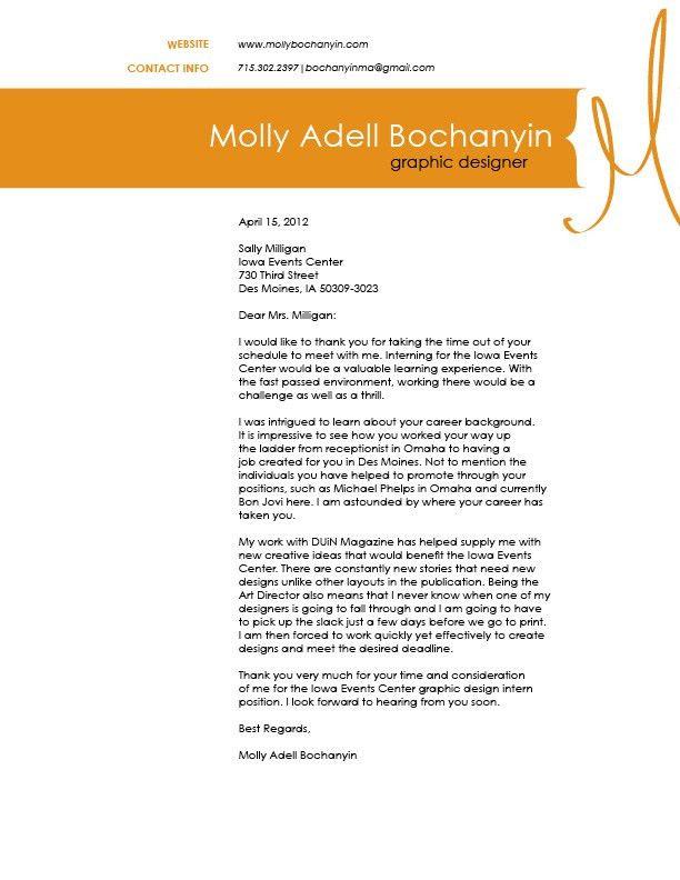 Cover letter design for resume