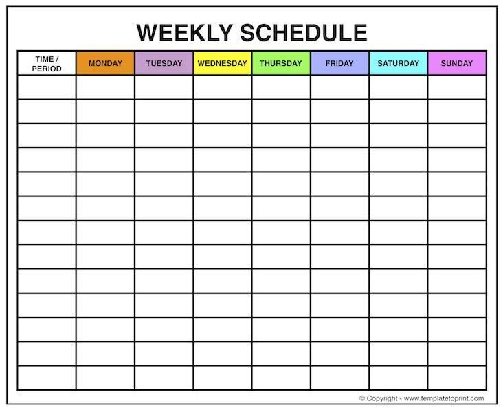 Weekly Planner Printable with Times | Black and White Cute Template