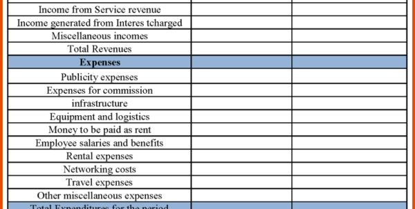 free business financial statement template