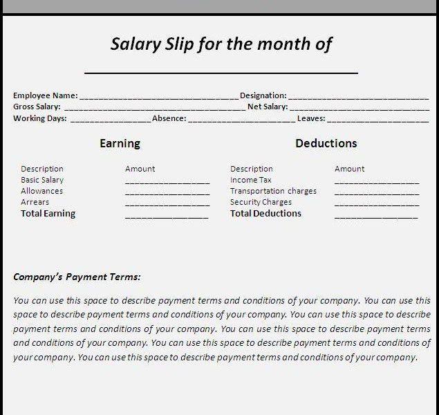 salary invoice template | Free Invoice