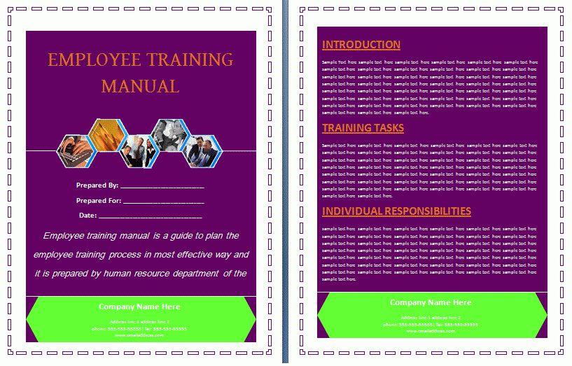 Employee Work Manual Template   Free Manual Templates