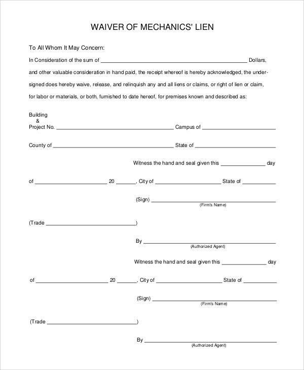 Release Of Lien Form. Model Release Form (1) Image Release Form ...