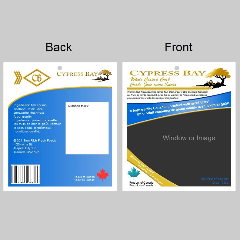 Frozen Seafood Package Label Template | HiretheWorld