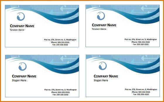 Free Business Cards Templates For Word | Business Template