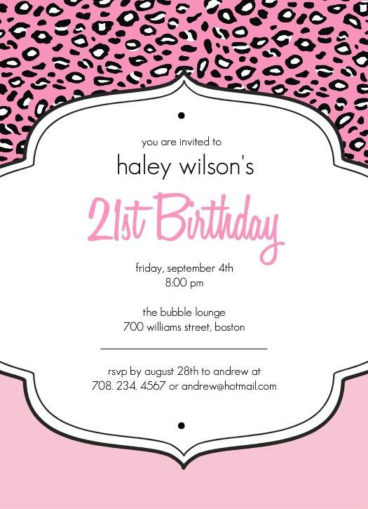 21St Birthday Party Invitations | wblqual.com