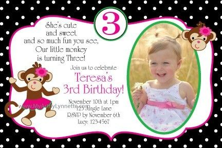 3Rd Birthday Invitation Wording | badbrya.com
