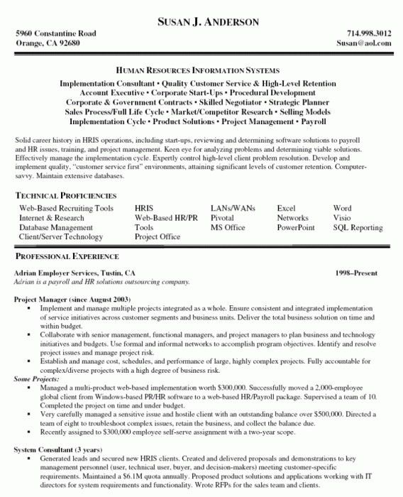 Elegant Technical Project Manager Resume | Resume Format Web