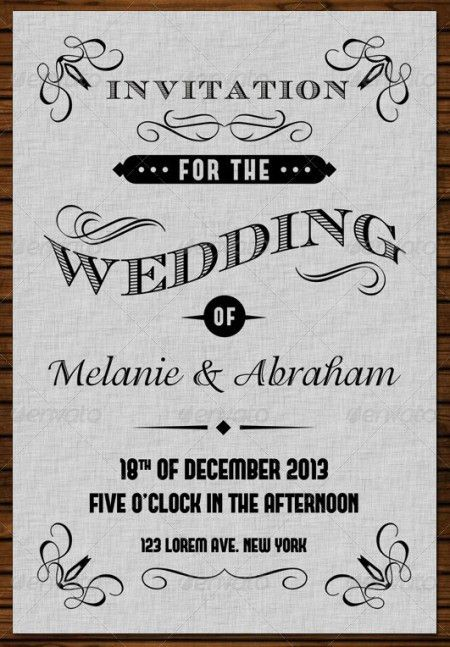 Standard Wedding Invitation Size Template   Best Template Collection