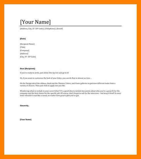 6+ sending a letter format | simple cv formate