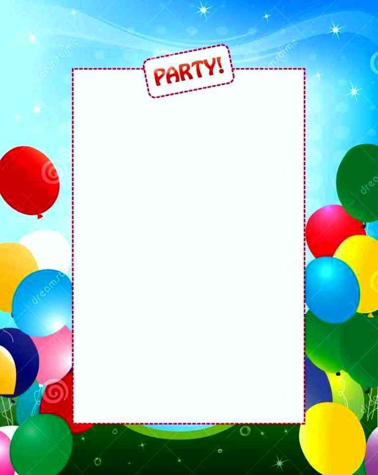 Birthday Invitation Backgrounds - Template Update234.com ...
