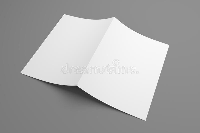 Blank 3D Illustration Mockup Leaflet Or Brochure. Stock ...