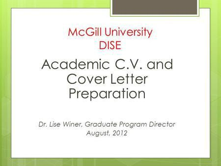Job Cover Letter Preparation - ppt download