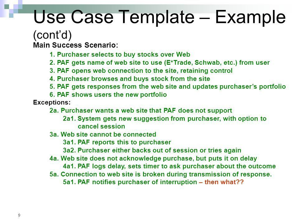 Use Cases Chapter 7 Appendix A. - ppt download