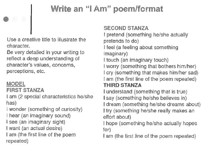 I am' Poems | Grade Prep D with Miss Hunichen