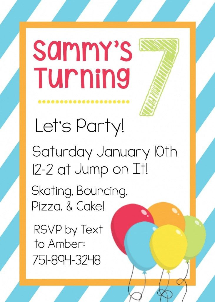 Kids Birthday Party Invitation Templates - vertabox.Com