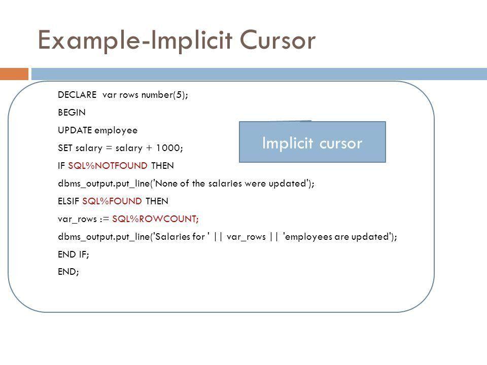 PL/SQL. What is PL/SQL  Procedural Language – SQL  An ...