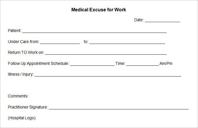 Doctors Excuse Template | peerpex
