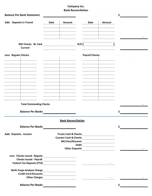 Bank Account Reconciliation Template Form Word Free Notimeagain ...