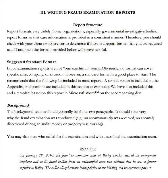 Sample Report Writing Format - 31+ Free Documents in PDF