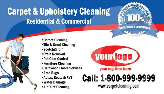 Carpet Cleaning Business Cards - Carpet Vidalondon