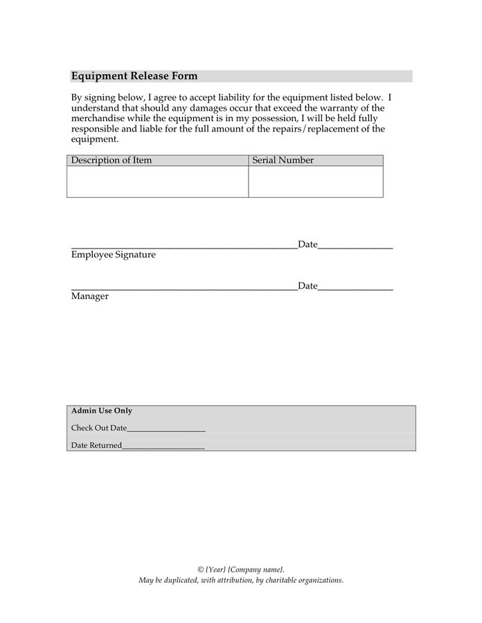 Release Letter Sample - download free documents for PDF, Word and ...