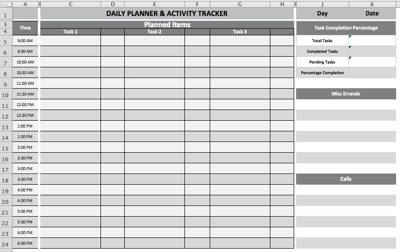 Daily Task Planner Template | business templates | Pinterest ...