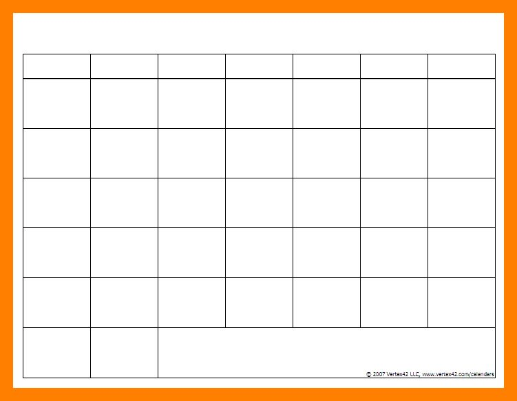 9+ blank chart templates | article examples