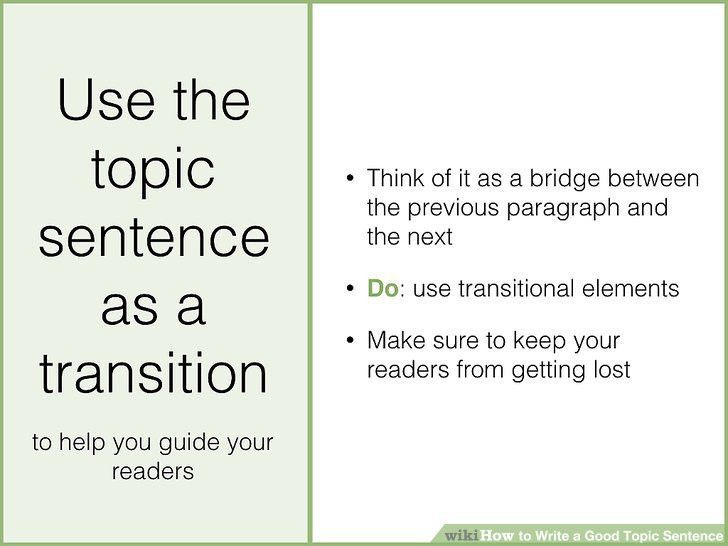 How to Write a Good Topic Sentence (with Sample Topic Sentences)