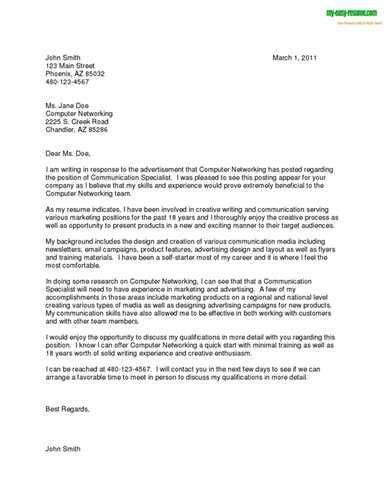 Job Cover Letter Sample For Resume   Experience Resumes
