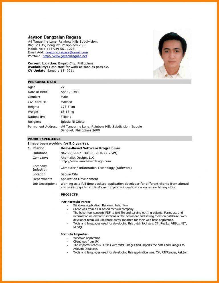 Inspiration Formal Resume Sweetlooking - Resume CV Cover Letter