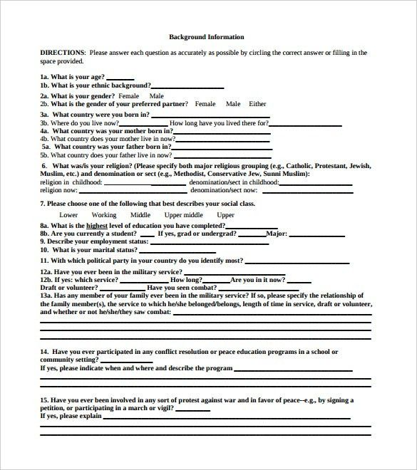 Survey Template – 14+ Free Word, PDF Documents Download! | Free ...