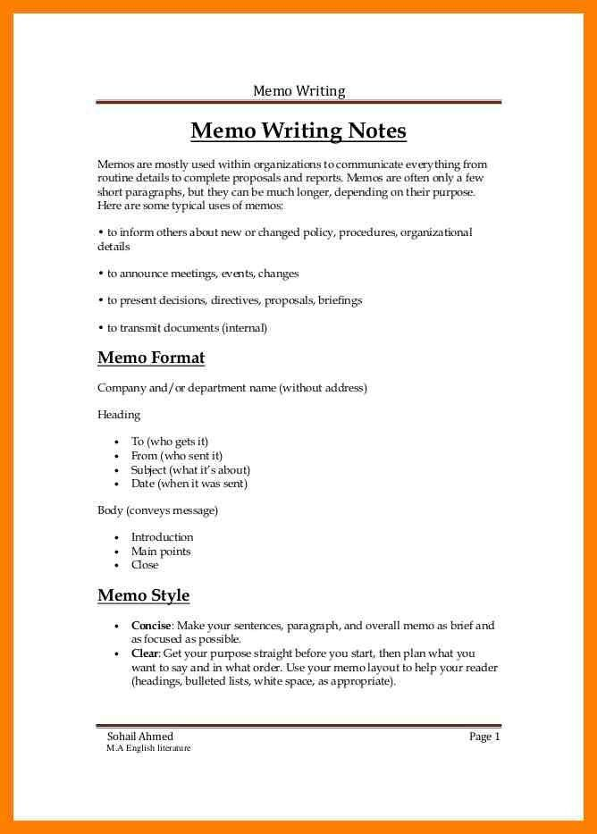 thesis memo