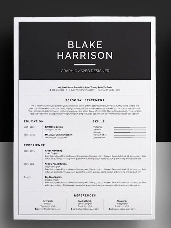 Interesting Resume Templates. Amazing Resume Templates | Health ...