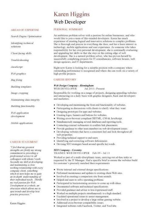 Web Designer Resume Sample | haadyaooverbayresort.com