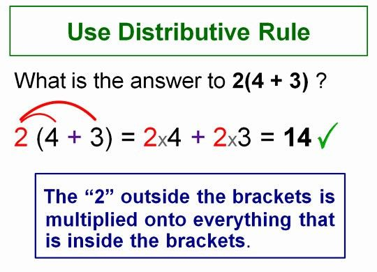 Expanding Brackets Using Distributive Rule | Passy's World of ...