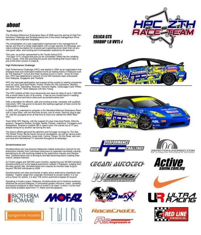 We're going Racing! HPC-ZTH Race Team - MME 2008 | Zerotohundred.com