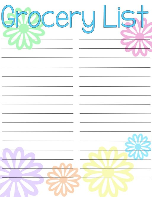 Grocery List {Free Printable   Free printable, Free and Organizations