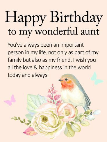 Best 20+ Birthday wishes for aunt ideas on Pinterest   Happy ...