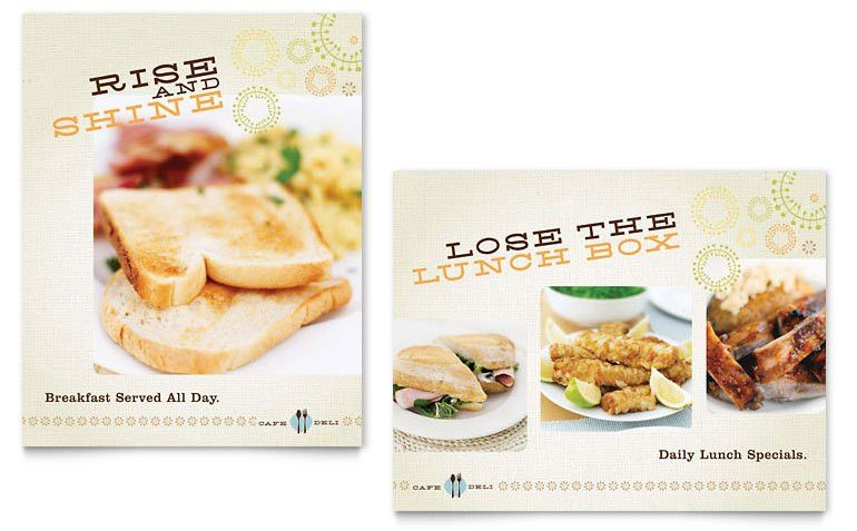 Cafe Deli Poster Template - Word & Publisher