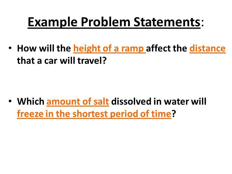 1) Problem Statement: Select a topic that can only be answered by ...