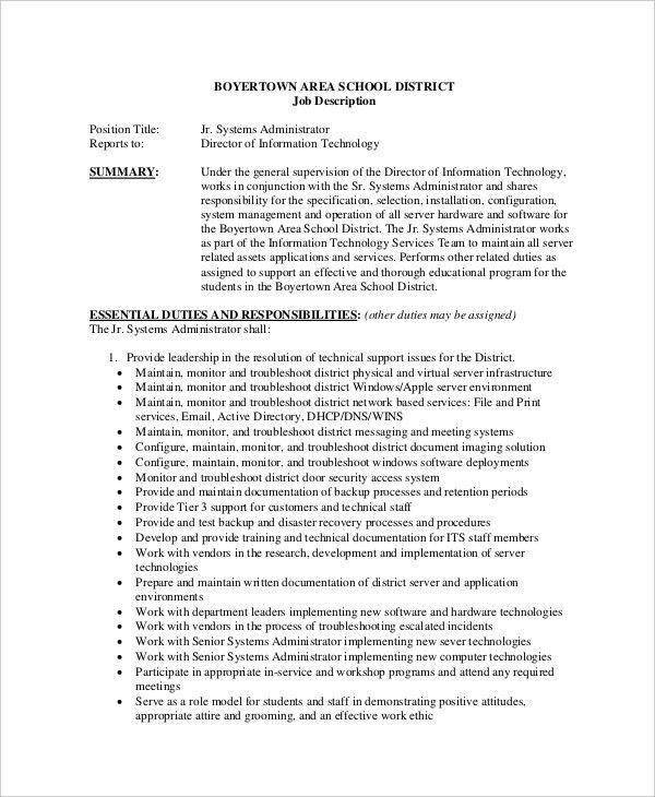 System Programmer Job Description. Sample Senior Programmer .
