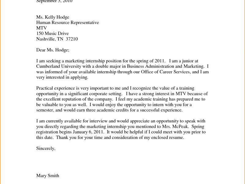 Interesting Internship Cover Letter Example 15 12 Internship Cover ...