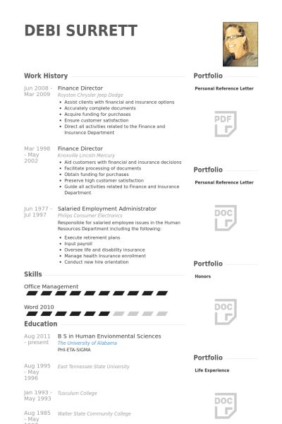 Finance Resume samples - VisualCV resume samples database