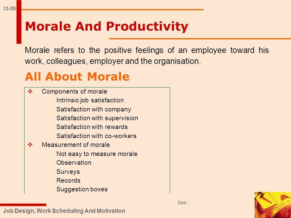 JOB DESIGN, WORK SCHEDULING AND MOTIVATION EXCEL BOOKS Chapter ...