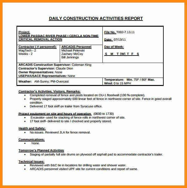 5+ building construction progress report sample | musicre sumed