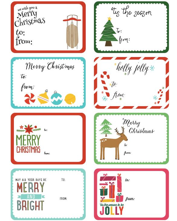 Christmas Label Templates – Happy Holidays!