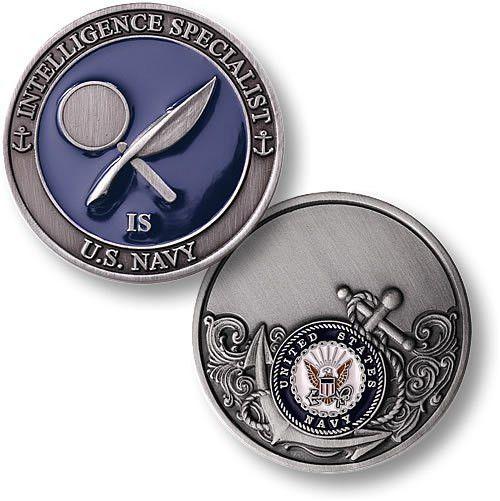 Navy Intelligence Specialist - Enamel - Coin
