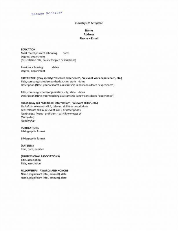 Resume : Resume Template Student High School Cvonline Example Of A ...